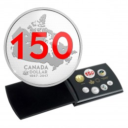 2017 Canadian Canada 150: Our Home and Native Land - Fine Silver Limited Edition Silver Dollar Proof Set-no outer box