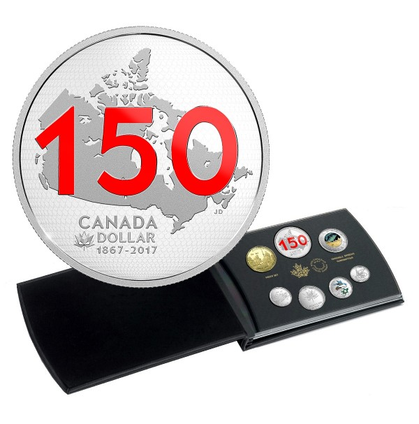 2017 Limited Edition Silver Dollar Proof Set - Canada 150: Our Home and Native Land