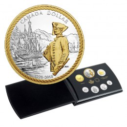 2018 Canada Silver Dollar Proof Set - 240th Anniversary of Captain Cook at Nootka Sound