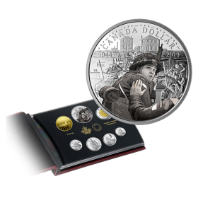 2019 Pure Silver 7-Coin Proof Set 75th Anniversary of D-Day 15,000 No 170630