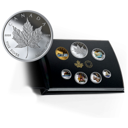 2019 Canadian Colourised Circulation Collection - Fine Silver 6-Coin Set with Medallion