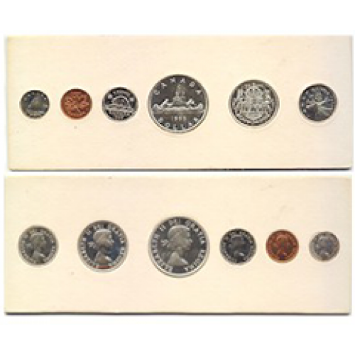 1955 Canadian Proof-Like (PL) Collector Coin Set