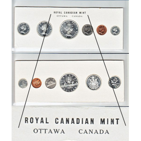 1960 Canadian Proof-Like (PL) Collector Coin Set (Stamp Three Variety)-may be toning