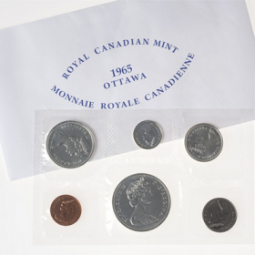 1965 Canadian Blunt Dollar Variety Proof-Like Set