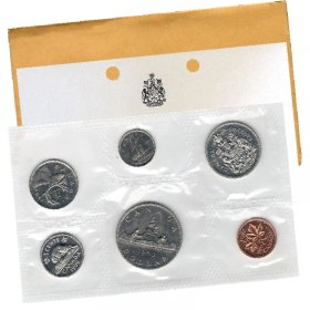 1969 Canadian 6-Coin Brilliant Uncirculated (Proof-like) Collector Set
