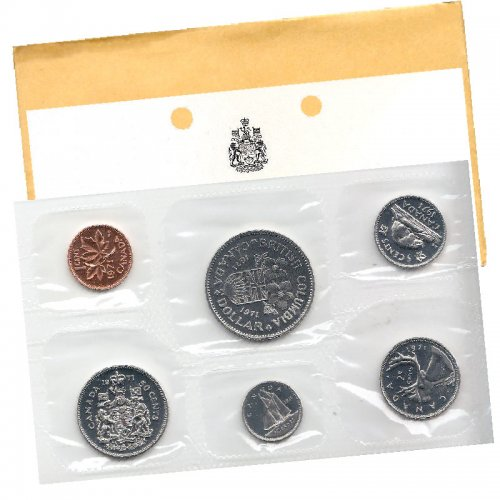 1971 Canadian 6-Coin Brilliant Uncirculated (Proof-like) Collector Set