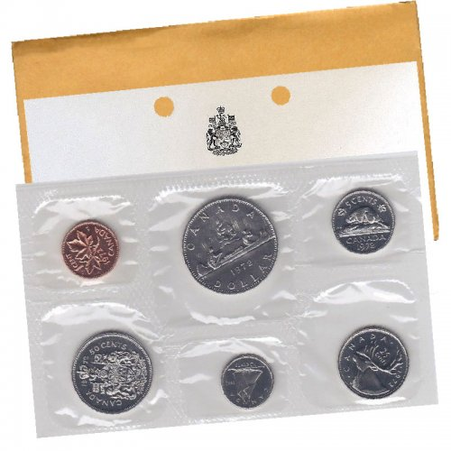 1972 Canadian 6-Coin Brilliant Uncirculated (Proof-like) Collector Set