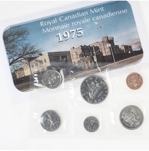 1975 Canadian Attached Jewel Variety Uncirculated Proof Like Set