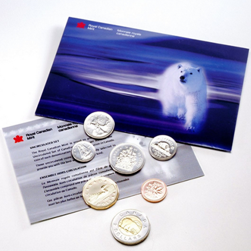 1999 Canadian Polar Bear Uncirculated Proof-Like Set