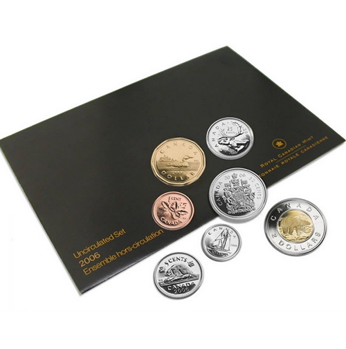 2006 canadian uncirculated proof like set - Chemise coin plastique transparent ...