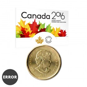 2016 Canadian Uncirculated Proof-Like Set / ERROR 2015 loonie instead of 2016 loonie