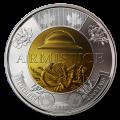 2018 Canadian $2 Armistice 100th Anniv Remembrance Poppy Toonie Original Coin Roll (Non-Coloured)