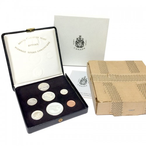 1967 (1867-) Canadian Confederation Centennial Specimen Presentation Coin Set w/ 2017 50-Cent 150th Anniversary-coins may be tarnished & cases are not 100%