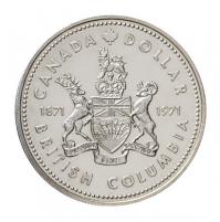 1971 Specimen Silver Dollar - British Columbia Centennial