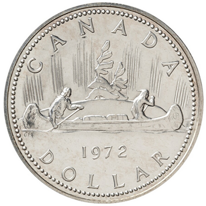1972 Canadian 1 Voyageur Specimen Silver Dollar Coin
