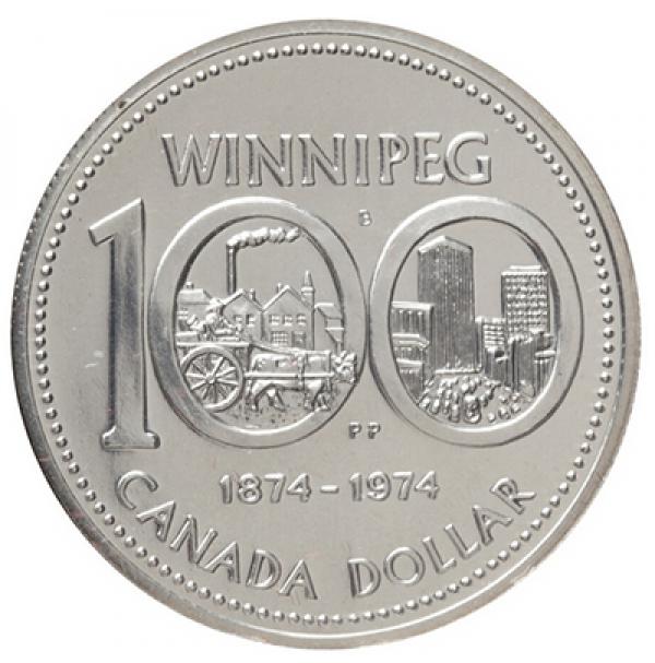 1974 Canada Specimen Silver Dollar - Winnipeg Centennial