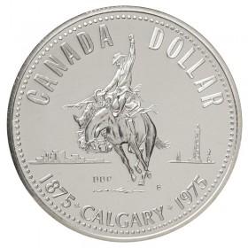 1975 (1875-) Canadian $1 Calgary Centennial Specimen Silver Dollar Coin