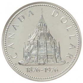 1976 (1876-) Canadian $1 Library of Parliament Centennial Specimen Silver Dollar Coin