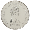 1977 (1952-) Canadian $1 Throne of the Senate (Queen's Silver Jubilee) Specimen Silver Dollar Coin
