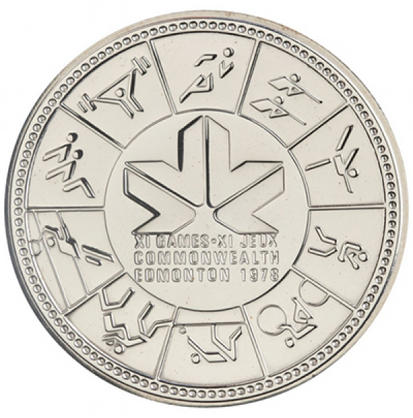 1978 Canada Specimen Silver Dollar - 11th Commonwealth Games, Edmonton