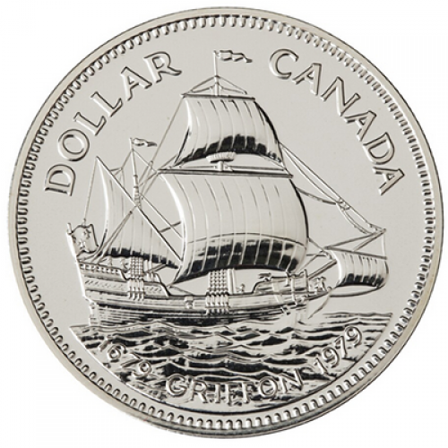 1979 (1679-) Canadian $1 Griffon Tricentennial Specimen Silver Dollar Coin