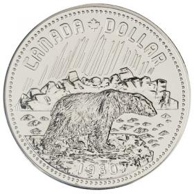 1980 Canadian $1 Arctic Territories Centennial Specimen Silver Dollar Coin