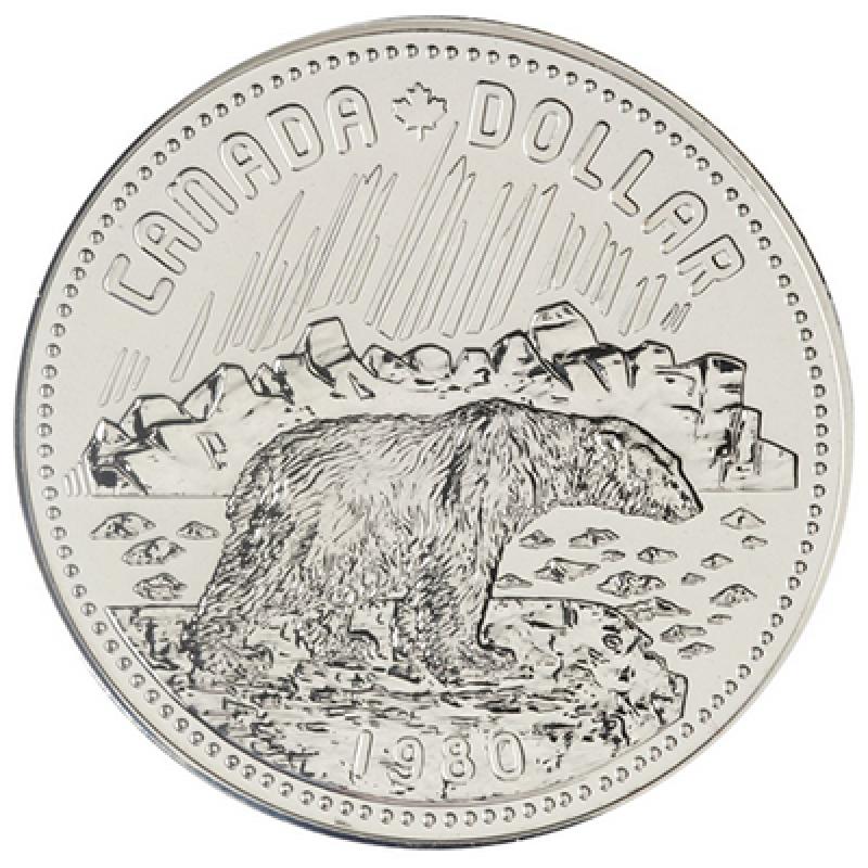 CANADA 1980 SPECIMEN SILVER DOLLAR ARCTIC TERRITORIES CENTENNIAL COIN