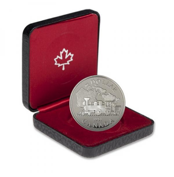 1981 Proof Silver Dollar - Trans-Canada Railway Centennial