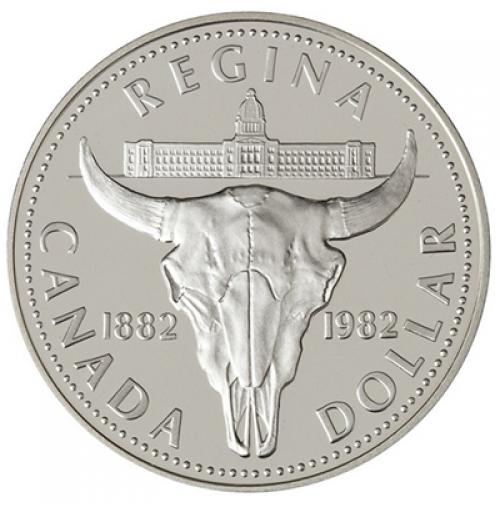 1982 Proof Silver Dollar Regina Centennial