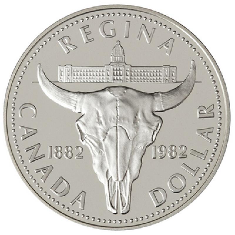 1982 1882 Canadian 1 Regina Centennial Proof Silver