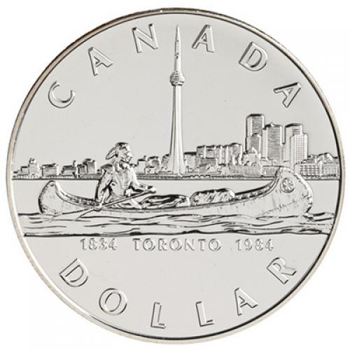 1984 Canada Brilliant Uncirculated Silver Dollar - Toronto Sesquicentennial