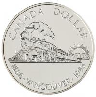 1986 Brilliant Uncirculated Silver Dollar - Vancouver Centennial