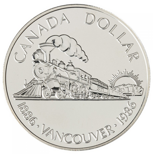 1986 Brilliant Uncirculated Silver Dollar - Vancouver Centennial