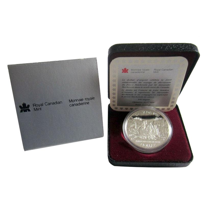 1989 MacKenzie River Canada Voyage 7 Coin Proof Double Dollar Prestige Set