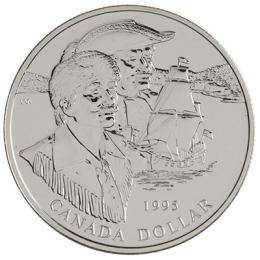 1995 Canada Brilliant Uncirculated Silver Dollar - 325th Anniversary of the Hudson's Bay Company