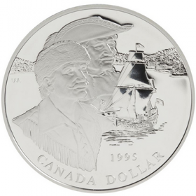 1995 Canadian $1 Hudson's Bay Company 325th Anniv Proof Silver Dollar Coin