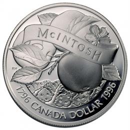 1996 Canada Proof Silver Dollar - 200th Anniversary of John McIntosh