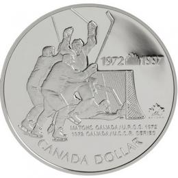 1997 Canada Proof Silver Dollar - 25th Anniversary 1972 Canada vs Russia Hockey Series