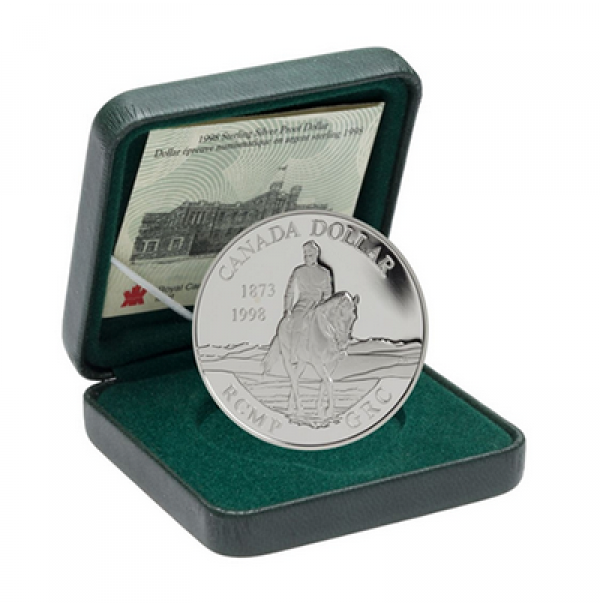 1998 Proof Silver Dollar - 125th Anniversary of the R.C.M.P.