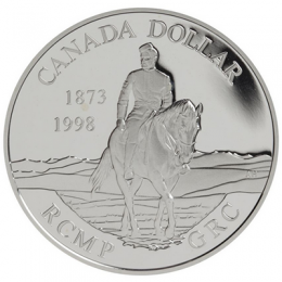 1998 Canada Proof Silver Dollar - 125th Anniversary of the R.C.M.P.