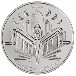 2000 Canadian $1 Voyage of Discovery Brilliant Uncirculated Silver Dollar Coin