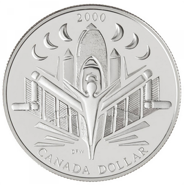 2000 Canada Proof Silver Dollar - Voyage of Discovery