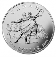 2001 Brilliant Uncirculated Silver Dollar - 50th Anniversary of the National Ballet of Canada