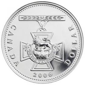 2006 Brilliant Uncirculated Fine Silver Dollar - 150th Anniversary of the Victoria Cross