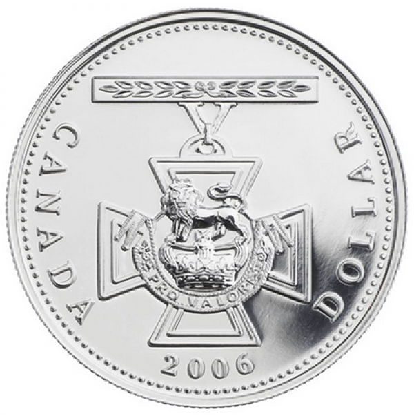 2006 Brilliant Uncirculated Fine Silver Dollar - 150th Anniversary of the Victoria Cross