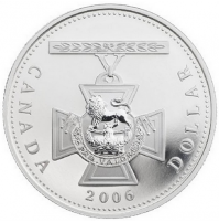 2006 Proof Fine Silver Dollar - 150th Anniversary of the Victoria Cross