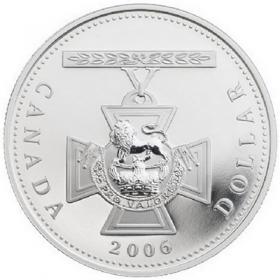 2006 Proof Fine Silver Dollar - 150th Anniversary of the Victoria Cross