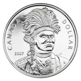 2007 Canada Brilliant Uncirculated Silver Dollar - Celebrating Thayendanegea (Joseph Brant)