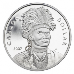 2007 Canada Proof Silver Dollar - Celebrating Thayendanegea (Joseph Brant)
