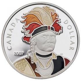 2007 Canada Enameled Proof Silver Dollar - Celebrating Thayendanegea (Joseph Brant)